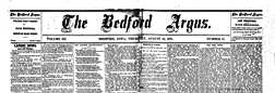Bedford Argus newspaper archives