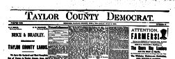 Taylor County Democrat newspaper archives