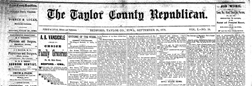 Taylor County Republican newspaper archives