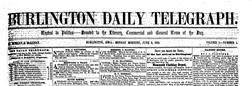 Burlington Daily Telegraph newspaper archives