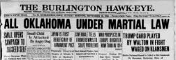 Burlington Hawk Eye newspaper archives