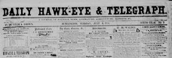 Daily Hawk Eye And Telegraph newspaper archives