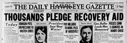 Daily Hawk Eye Gazette newspaper archives