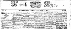 Hawk Eye newspaper archives