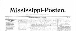 Mississippi Posten newspaper archives
