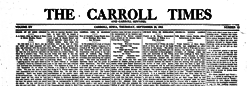Carroll Times And Carroll Sentinel newspaper archives