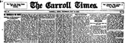 Carroll Times newspaper archives