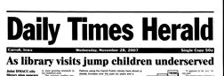 Daily Times Herald newspaper archives