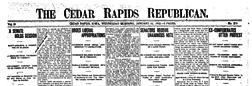 Cedar Rapid Republican newspaper archives