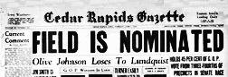 Cedar Rapids Gazette newspaper archives