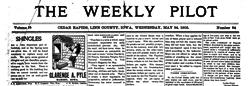 Cedar Rapids Weekly Pilot newspaper archives