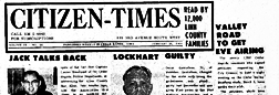 Citizen Times newspaper archives
