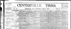 Centerville Times newspaper archives