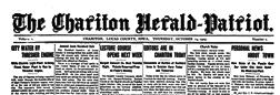 Chariton Herald Patriot newspaper archives