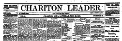 Chariton Leader newspaper archives