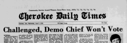 Cherokee Daily Times newspaper archives