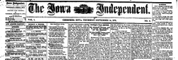 Cherokee Iowa Independent newspaper archives