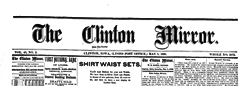 Clinton Mirror newspaper archives
