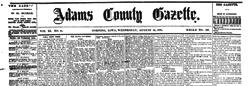Adams County Gazette newspaper archives