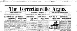 Correctionville Argus newspaper archives