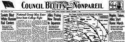 Council Bluffs Iowa Nonpareil newspaper archives