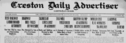 Creston Daily Advertiser newspaper archives