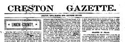 Creston Gazette newspaper archives