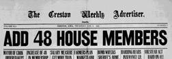 Creston Weekly Advertiser newspaper archives