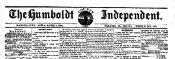 Humboldt County Independent Dakota City Iowa newspaper archives