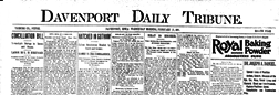Davenport Daily Tribune newspaper archives