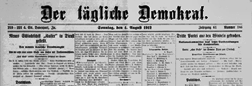 Davenport Der Tagliche Demokrat newspaper archives