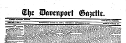 Davenport Gazette newspaper archives