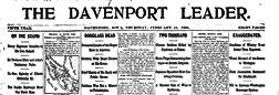 Davenport Leader newspaper archives