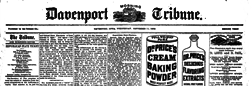 Davenport Morning Tribune newspaper archives