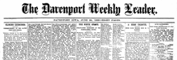 Davenport Weekly Leader newspaper archives