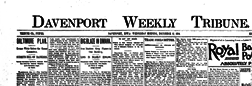Davenport Weekly Tribune newspaper archives