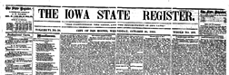 Des Moines Iowa State Register newspaper archives
