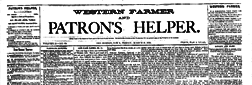 Des Moines Western Farmer And Patron Helper newspaper archives
