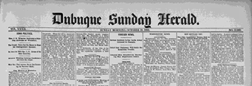 Dubuque Sunday Herald newspaper archives