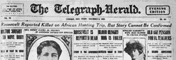 Telegraph Herald newspaper archives