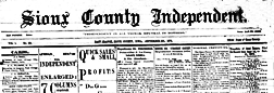 Sioux County Independent newspaper archives