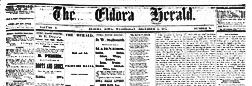 Eldora Herald newspaper archives
