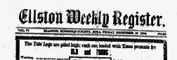 Ellston Weekly Register newspaper archives