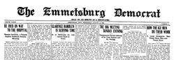 Emmetsburg Democrat newspaper archives