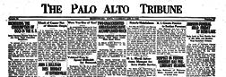 Palo Alto Tribune newspaper archives
