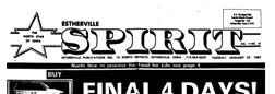 Estherville Spirit newspaper archives