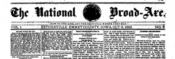 National Broad Axe newspaper archives