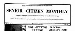 Senior Citizen Monthly newspaper archives