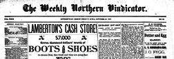 Weekly Northern Vindicator newspaper archives