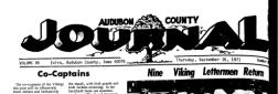 Audubon County Journal newspaper archives